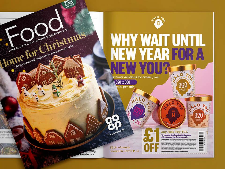 Co-op Magazine Halo Top advert